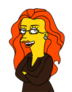 Suzanne has been simpsonized!